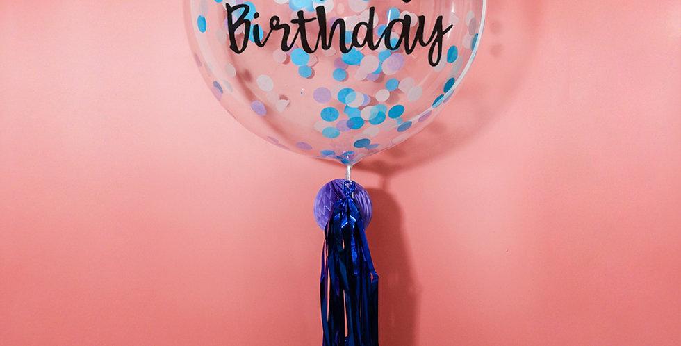 24 Inch Personalized 2.5CM Confetti Balloon