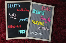 Large Letterboard with Message