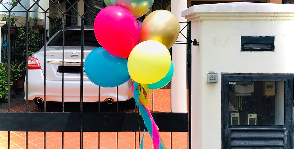 Rainbow Orbz Balloon Bouquet