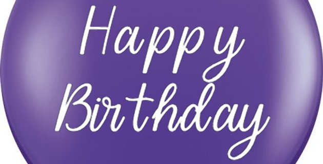 36 Inch Personalized Purple Violet Balloon