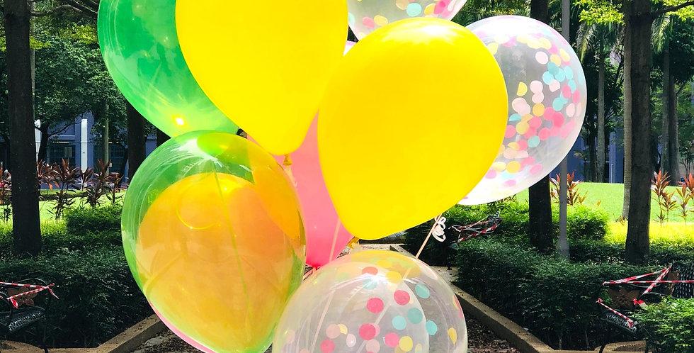 Tropical Ombre Balloon Bouquet