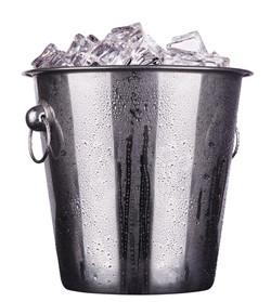 Ice Bucket with Ice & Wine Key
