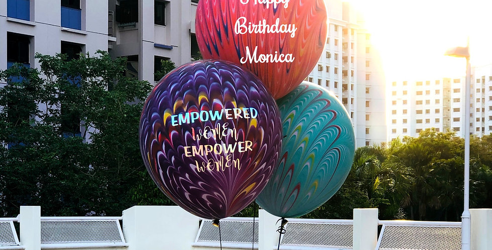 Personalized Peacock Balloons