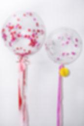 Heart Shaped Confetti Balloons