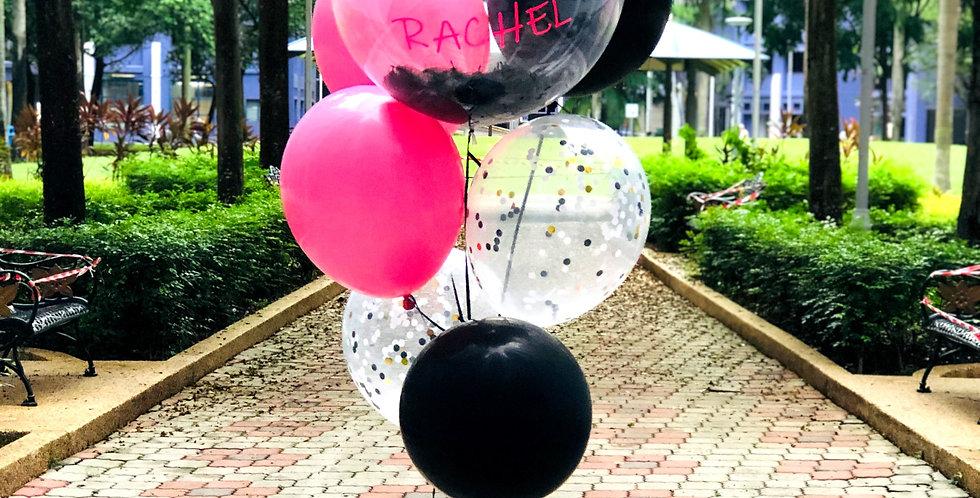 "20"" Black Aire Balloon Bouquet"