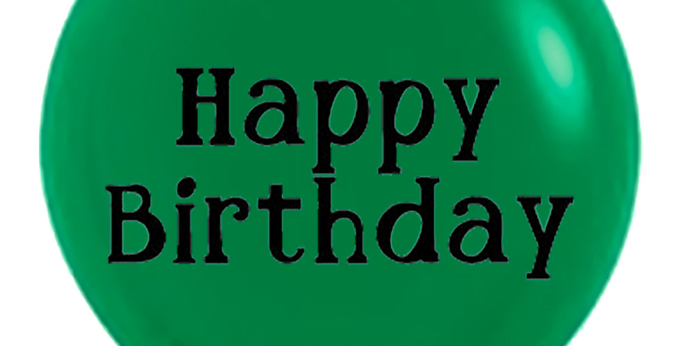 24 Inch Personalized Forest Green Balloon