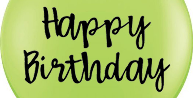 36 Inch Personalized Lime Green Balloon