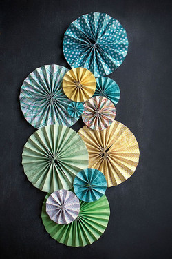 Paper Pinwheel Fan Decor