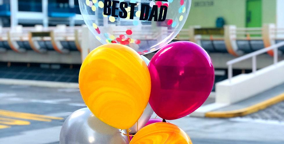Best Dad Confetti Balloon Bouquet