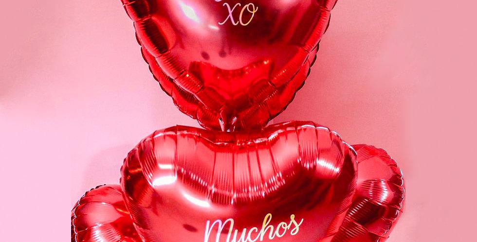 Heart Foil Bouquet Personalized