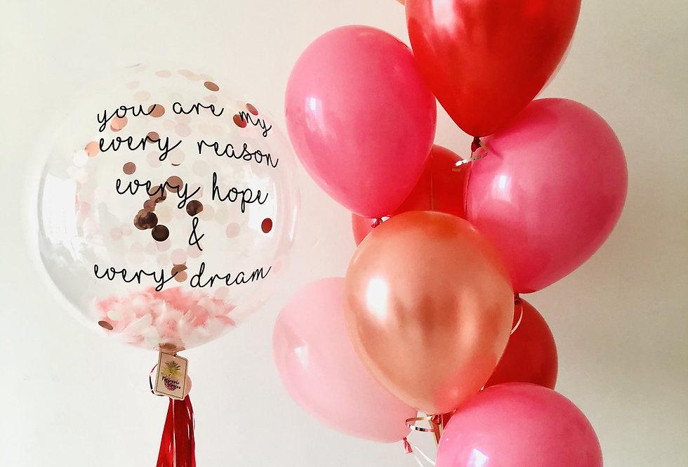 Love Solo Balloon Set