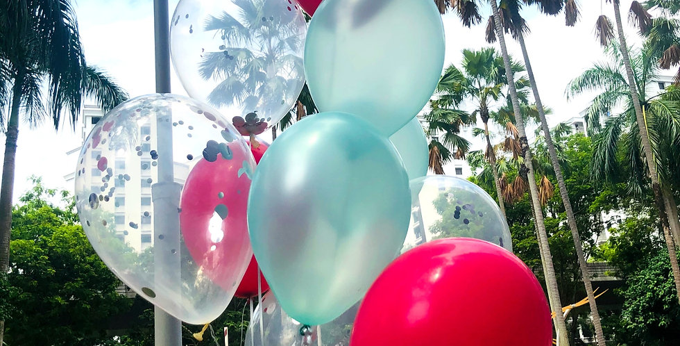 Red & Blue Ombre Balloon Bouquet
