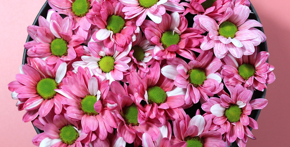 Pink Pom Poms Floral Box
