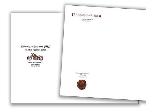 500 Enveloppes C5 couleur personnalisées