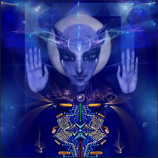 Sirian light being with crystal template