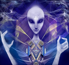 Arcturian light being with crystal templ