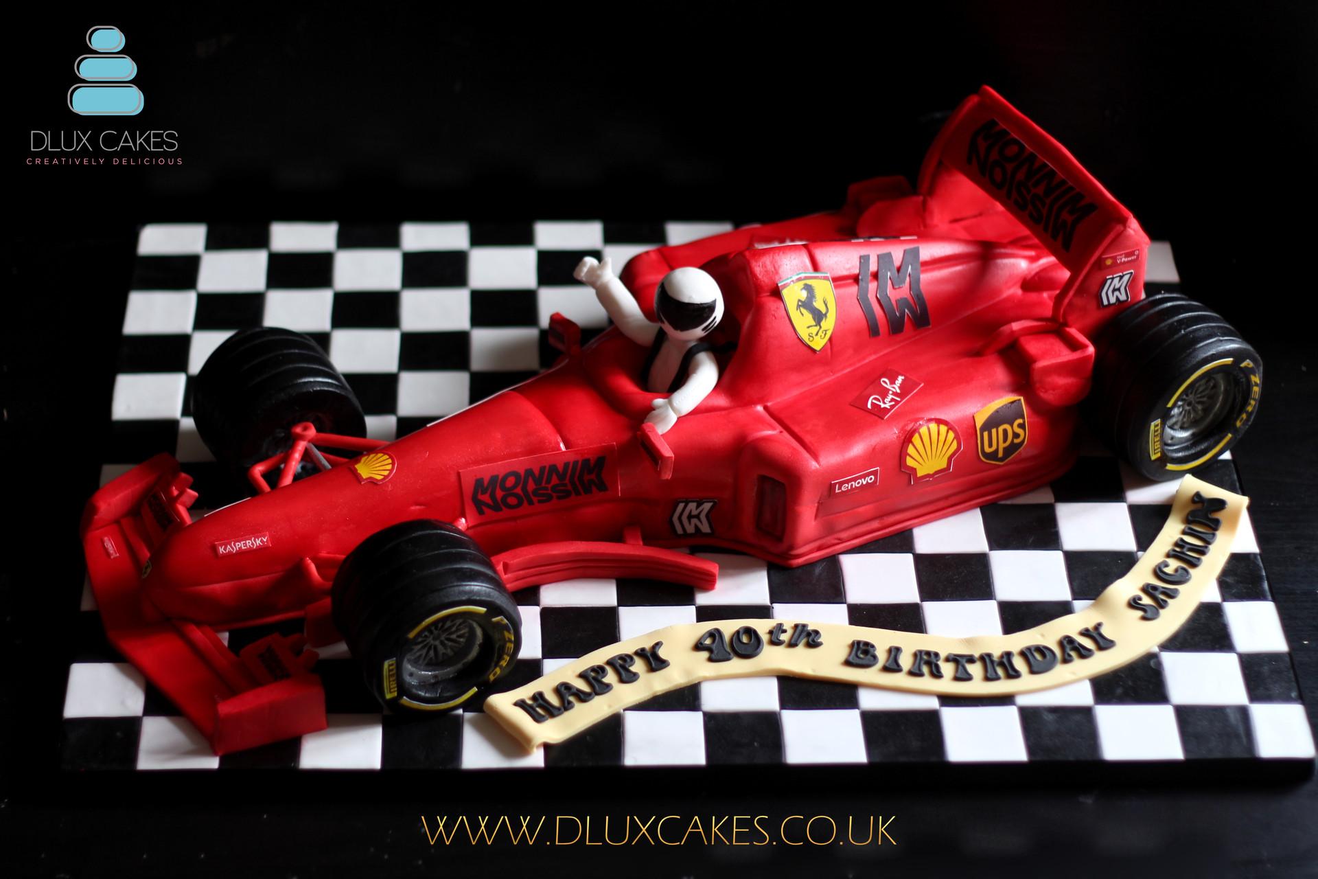 Ferrari F1 Car Cake