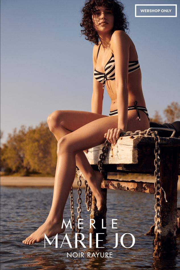 Serie Merle in Noir Rayure