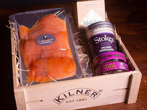 Smoked Salmon & 'Anchovy Caviar' Gift Box