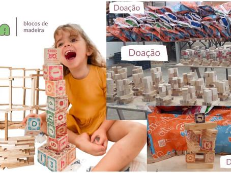Empreendedoras se unem para doação de brinquedos educativos a crianças carentes.