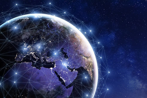 Communication network around Earth used
