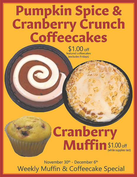 11-30 Pumpkin Spice + Cranberry Crunch &