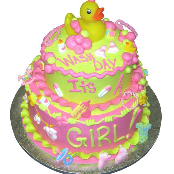 Baby Shower Rubber Duke cake