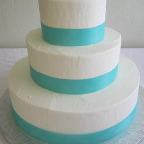 Just Ribbon Wedding Cake