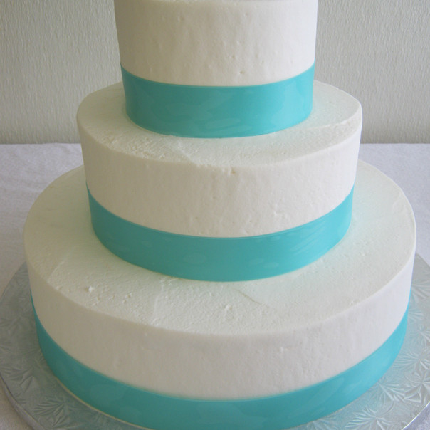 Just Ribbon Wedding Cake