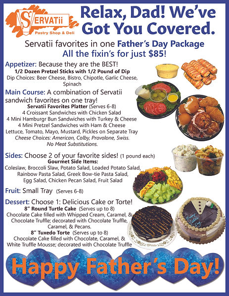 Father's Day Small Catering Package 8.5x