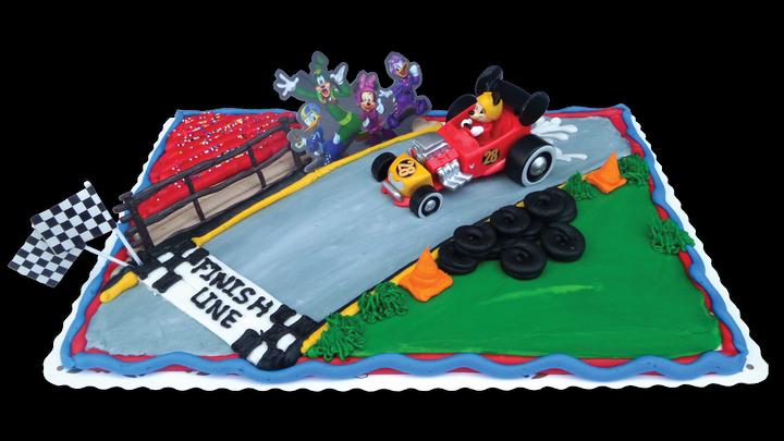 Mickey Mouse Race Car Scene