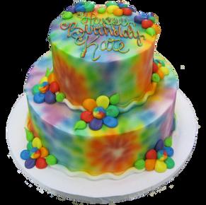Tie Die Tier Cake