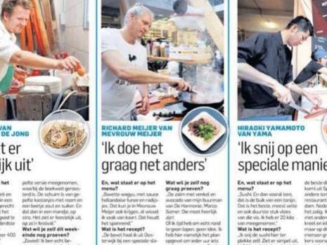 Yama in Rauwkost appeared in AD Rotterdams Dagblad