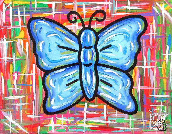 Blue Sapphire Butterfly