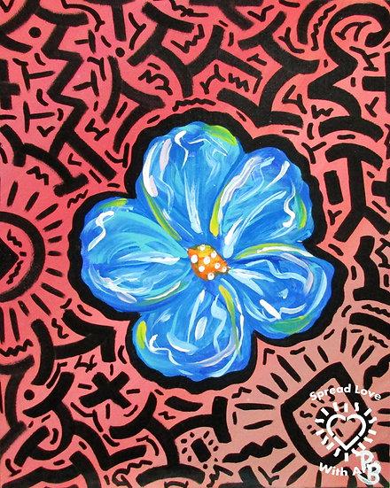 Blue Flower Diptych