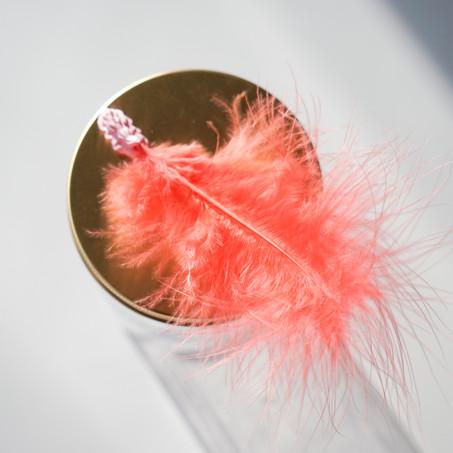 crimson feather