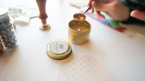 amber & smoke candle