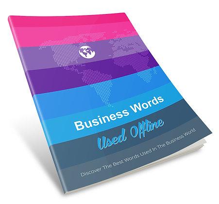Business Words Used Offline