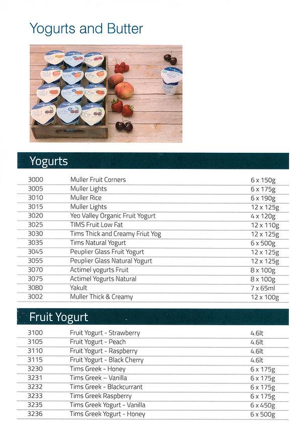 yogurts  dairy