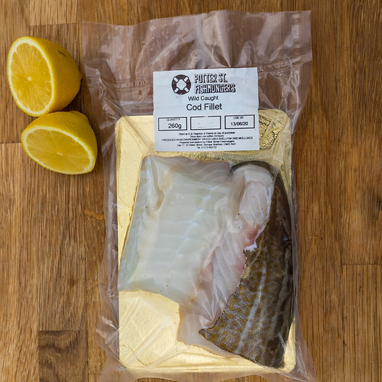 Fresh Cod  approx 250g
