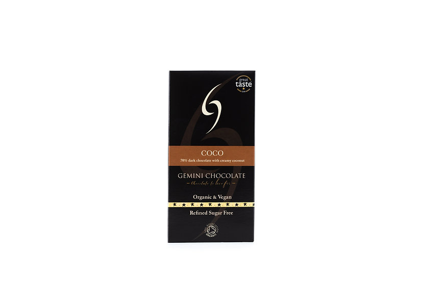 Coco - 70% dark chocolate with creamy coconut (90g)