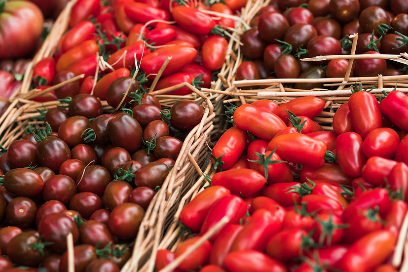 Organic small tomatoes mix - Sunday/Monday delivery only  - 500g