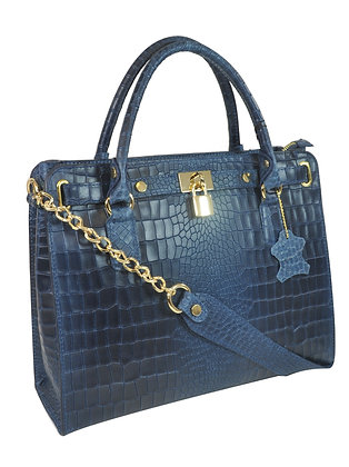Misty U.S.A. 100% Genuine Cowhide Leather Handbags Made in Italy .