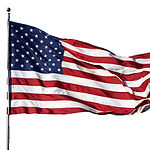 Large U.S. Flag _Old Glory_ blowing in a