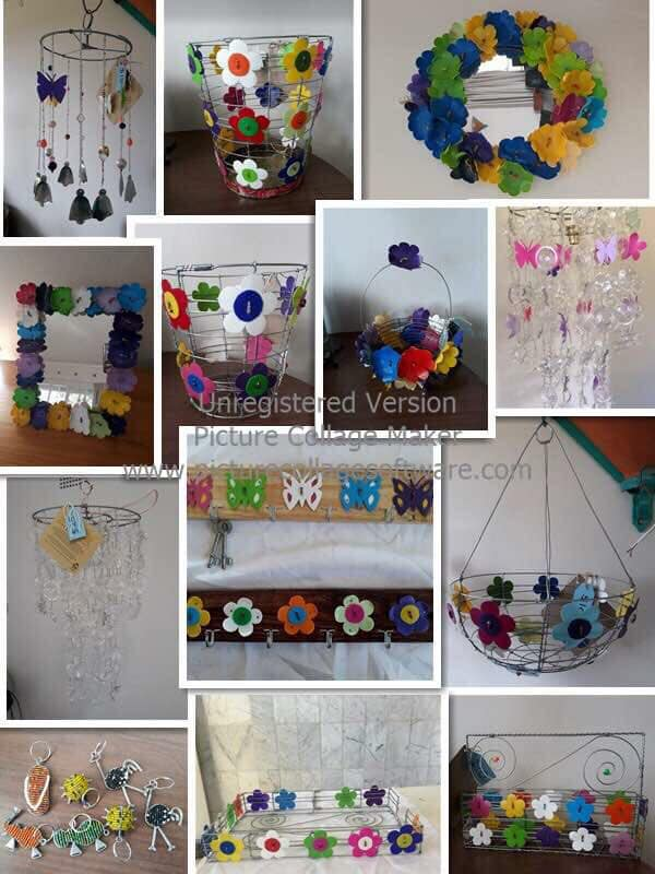 Crafts from re-cycled plastic