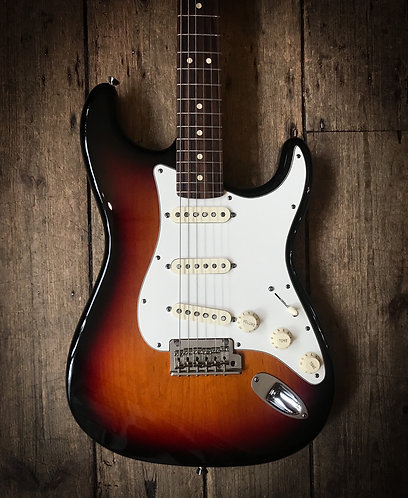 2012 Fender American Standard Stratocaster in 3Tone sunburst finish.