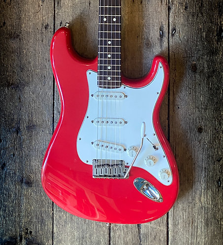 2001 Fender Stratocaster in factory red finish