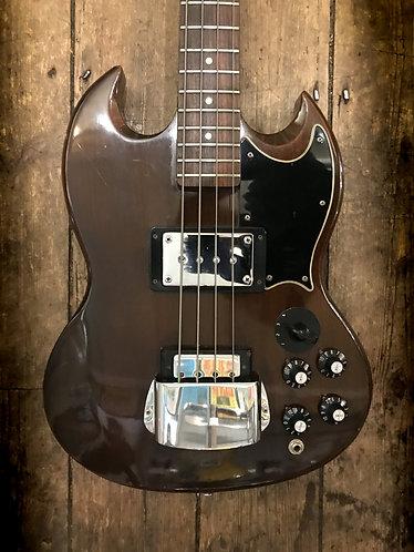 1974 Gibson EB3 Bass in dark cherry finish