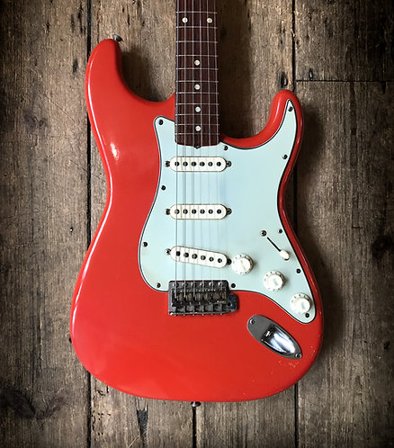 1962 Fender Stratocaster refinished in Fiesta Red