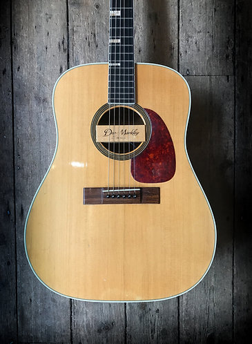 1965 Levin LT-18 Dreadnought Acoustic in Natural finish